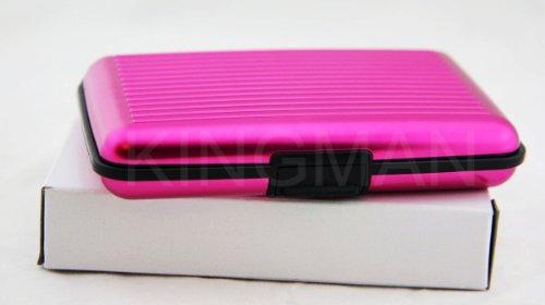 new-pink-aluminum-aluma-wallet-credit-card-holder-frid-blocking