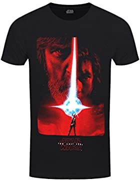 Star Wars The Last Jedi Poster Negro Camiseta Oficial Disney Con licencia Movie