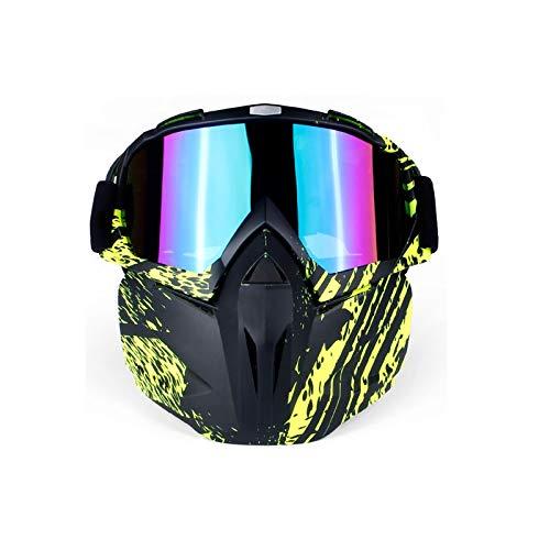 DOLOVE Brille Motorrad Nacht Brille Winddicht Radsport Schutzbrille Beschlagfrei Bunt