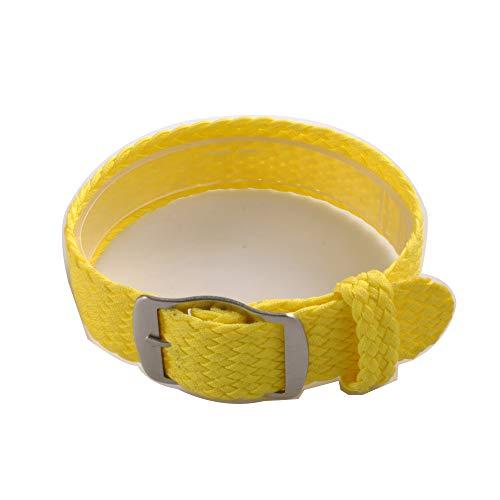Uhrenarmband NATO-Strap 20mm NATO-Armband in Farbe gelb aus Robustem Ballistic Nylon Uhr Armband Zul