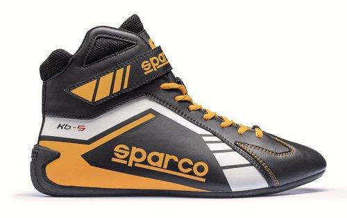 Speed-racing-schuh (Sparco Kartschuh Scorpion KB-5 schwarz/gelb - Top Racing Schuh (43))
