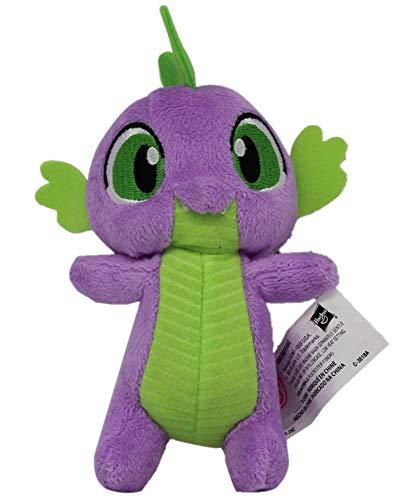 MLP My Little Pony Pferd 12cm Plüschfigur, Kuscheltier für Kinder, Mädchen und Jungen, zum Sammeln, Kuscheln und Spielen (Spike der Drache, grün/lila)