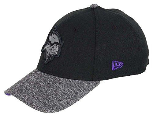 New Era Minnesota Vikings 39thirty Cap NFL Grey Collection Black/Grey - M - L