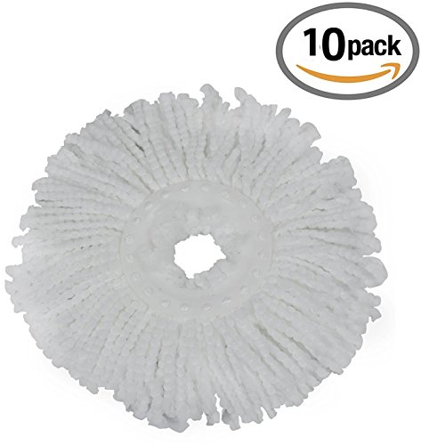 Royal Export Pack of 10 Replacement Head Refill for 360 Rotating Easy Mop Magic Mop Spin Mop Cleaner Duster  available at amazon for Rs.499