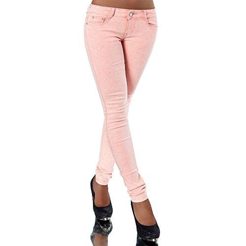 Damen Skinny Jeanshose Jeans Hose Pants Hüftjeans Röhre Röhrenjeans 5-Pocket Boyfriend Chino XS-XL Orange