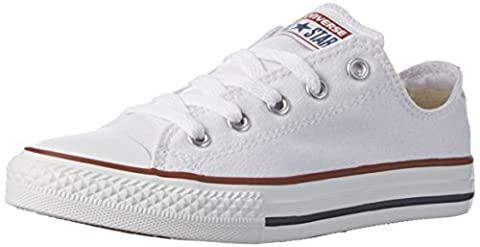 Converse Chuck Taylor All Star Core Ox, Baskets mode mixte enfant - Blanc (Blanc Optical) - 35 EU (2.5 UK)