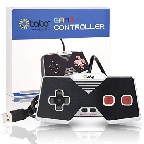 kiwitatá Classic NES USB-Controller, USB PC Game Controller Joypad Gamepad für Windows PC/Mac (Neue Version)