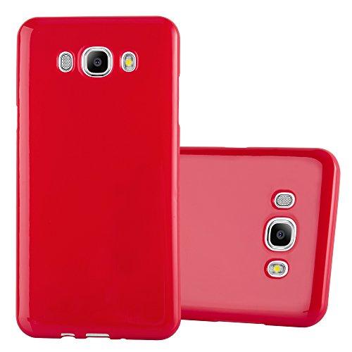 Preisvergleich Produktbild Cadorabo Hülle für Samsung Galaxy J7 2016 (6) - Hülle in Jelly ROT – Handyhülle aus TPU Silikon im Jelly Design - Silikonhülle Schutzhülle Ultra Slim Soft Back Cover Case Bumper