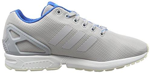 adidas ZX Flux, Chaussures de Running Compétition Homme Gris (Light Solid Grey/Shock Blue/Blue Glow)