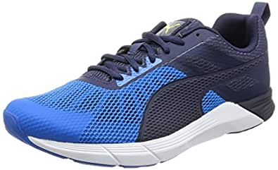 Puma Men's Propel Electric Blue Lemonade, Peacoat and Puma White Running Shoes - 9 UK/India (43 EU)