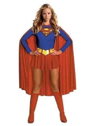 Qualité Halloween - Déguisement Supergirl Superwoman-Deluxe Sexy Fancy Dress Costume