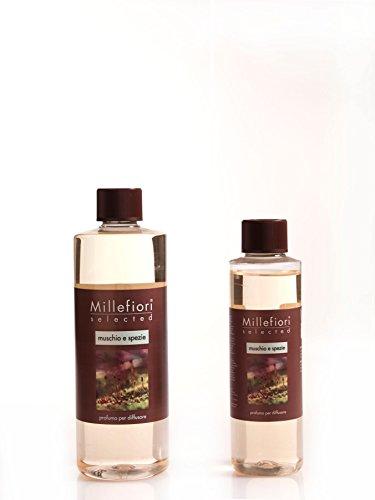 Millefiori Recharge Diffuseur de Parfum – Muschio E Spezie sélectionné 250 ml