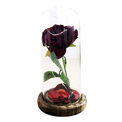 Dkhsy Enchanted Rose - Flor Artificial roja luz LED