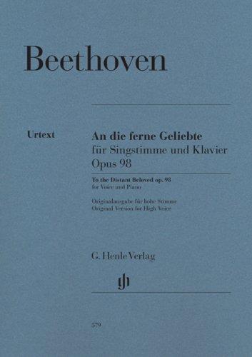 An die ferne Geliebte op. 98; hohe Stimme und Klavier