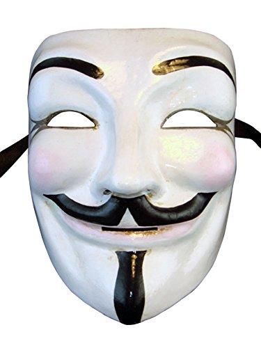 Venezianische Vollgesichtsmaske Volto Guy Fawkes V für Vendetta für Männer
