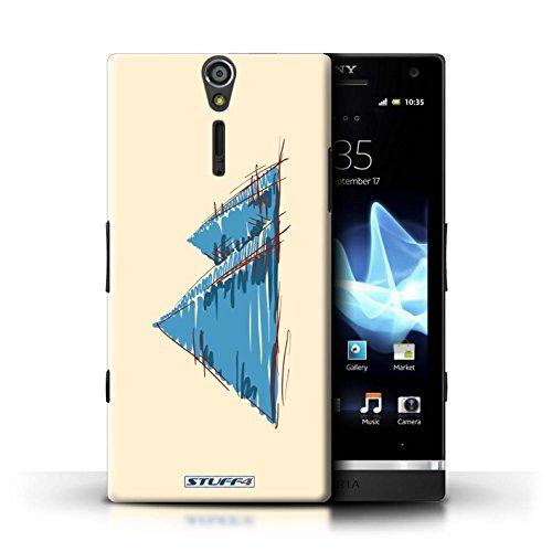 Kobalt® Imprimé Etui / Coque pour Sony Xperia S/LT26i / Colisée / Rome conception / Série Monuments Pyramides