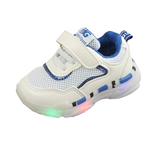 Makefortune-Sandalen Säuglingskleinkind Laufschuhe Kinder Jungen Mädchen Mode Sommer Mesh Atmungsaktive Turnschuhe Freizeitschuhe LED Leuchten Schuhe Leuchtende Blinkende Trainer für 1-6 Jahre alt (1 Schuhe Vans Jungen Größe Kinder)