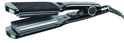 iron - 414kps 2BImCL - BaByliss Pro Black Crimpin Iron Ceramic Plates with 25 Heat Settings 2.5-inch