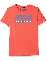 Tommy Hilfiger Ame Bold Logo tee S/S, Camiseta para Niños