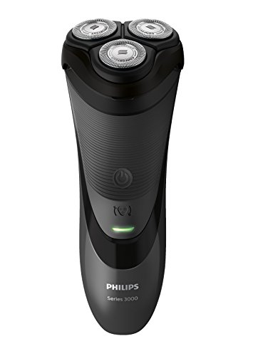 Philips SHAVER Series 3000 - Afeitadora (Batería/Corriente, Ión de litio, Rotación, Negro, Ergonomic, SH30)