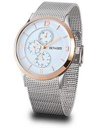 18008c17152b Duward Reloj Hombre en Acero Correa Malla milanesa con Esfera Blanca