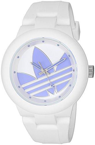 Adidas da donna 'Aberdeen' Orologio al quarzo plastica e silicone casual, colore bianco (Model: ADH3144)