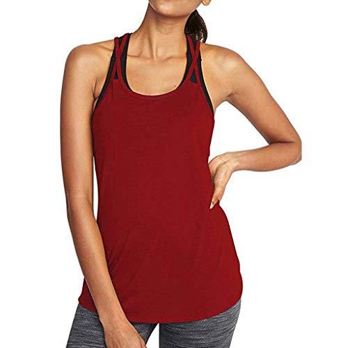 CAOQAO Damen Off Schulter Sexy Einfarbig Yoga Sexy Activewear Mesh Backless Fitness Racerback Tank Tops Hemden Atmungsaktives Laufshirt