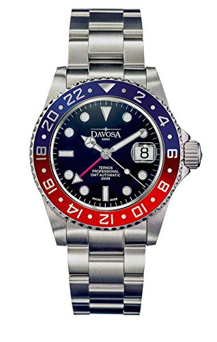 Davosa Ternos Professional GMT Limited Edition Pepsi Blue Red Wrist Watch