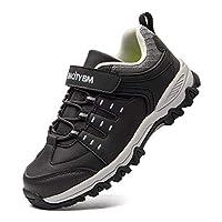 BMCiTYBM Boys Running Hiking Shoes Kid Youth Athletic Outdoor Waterproof Sneakers Black Size: 11.5 M US Little Kid