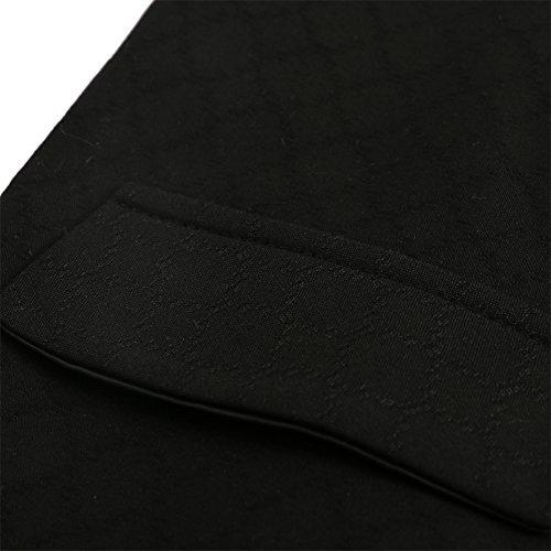 Hanayome - Gilet - Blouson - Col Chemise Classique - Sans Manche - 100 DEN - Homme Noir