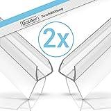 Balder 100cm Universal Duschdichtung [Doppelpack] - Ideale Dichtung für 6mm, 7mm und 8mm Glastür - Langlebige Duschkabinen Gummilippe - Einfach zuschneidbarer Schwallschutz