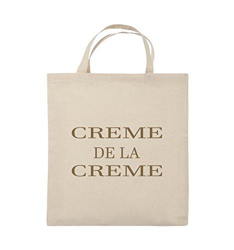 Comedy Bags - CREME DE LA CREME - Jutebeutel - kurze Henkel - 38x42cm - Farbe: Schwarz / Pink Natural / Hellbraun