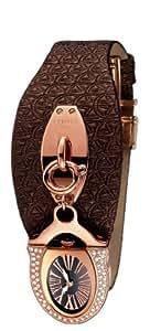 Cerruti - CT100152S04 - Montre Femme - Quartz - Analogique - Bracelet Cuir Marron