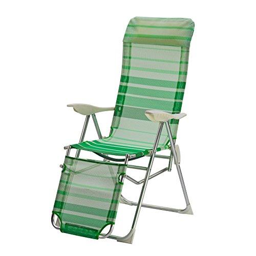 "Alu Relaxsessel ""Sunnyvale"" grün gestreift"