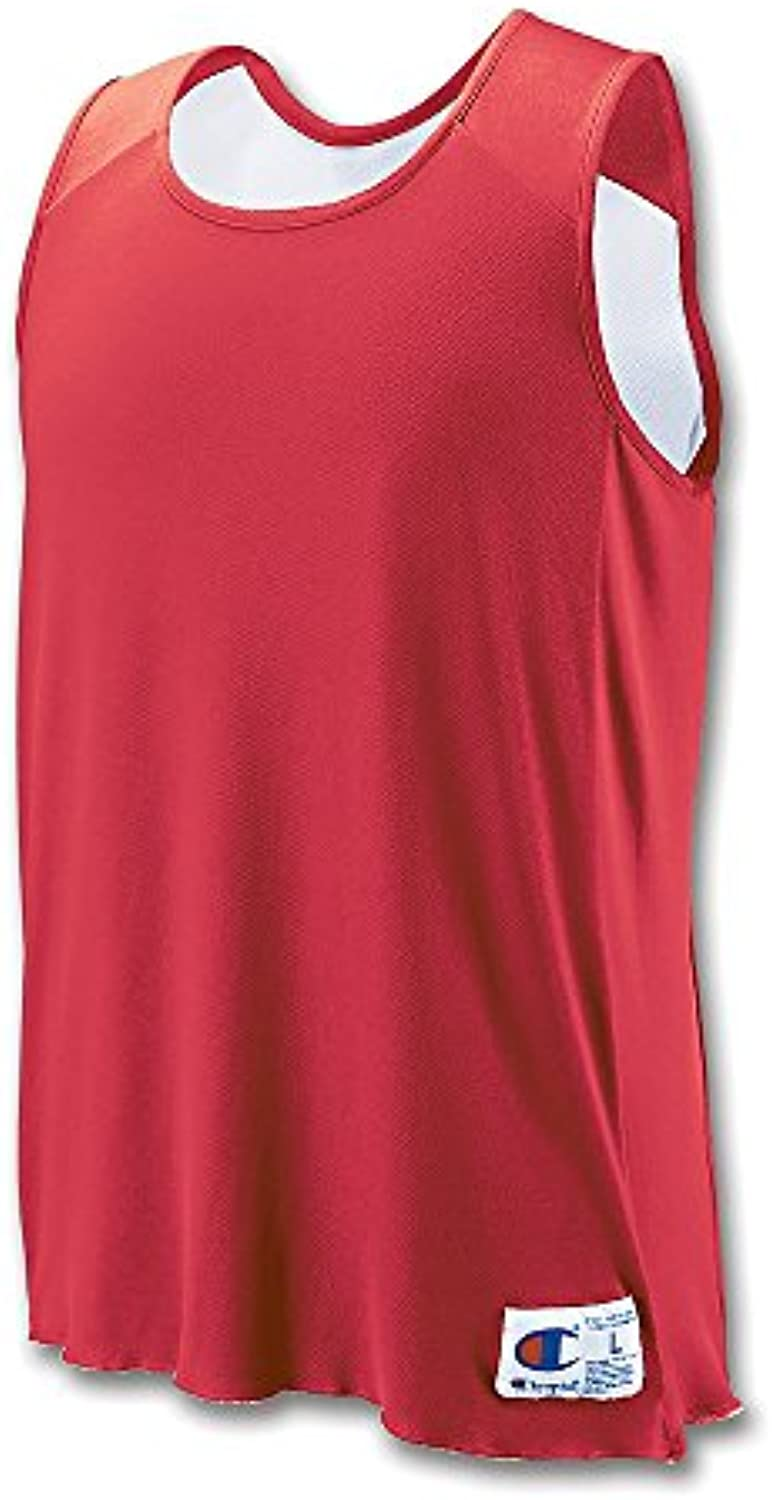 Champion Men`s Double Dry Reversible Jersey BR01 V Youth S Scarlet/White