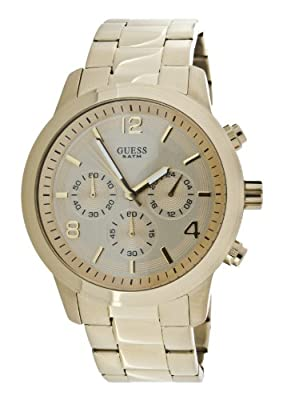 Guess Spectrum W14043L1 de cuarzo, correa de acero inoxidable color oro