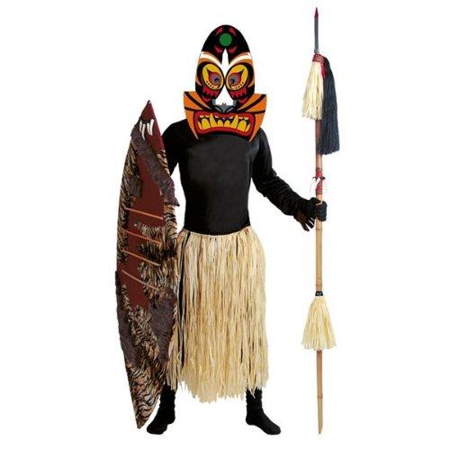 Medizin Kostüm Mann - Medizin Voodoo Mann Kostüm für Herren Gr. M/L, Größe:L