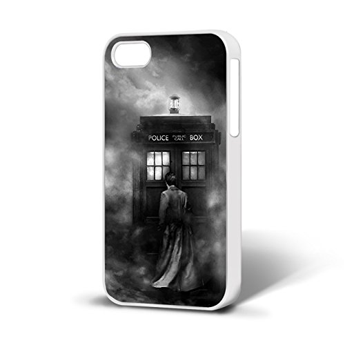Doctor Who Tardis Art passt Telefon Fall iPhone 6 Free P & P, plastik, Weiß, Iphone 6 (Iphone Fall Who Dr 6)