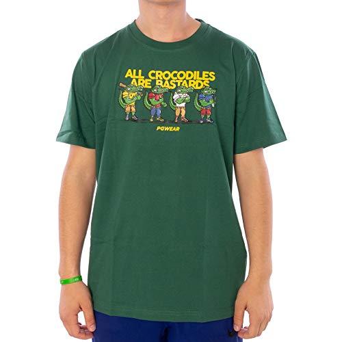 PG Wear Herren T-Shirt Crocodiles rot Navy grün (M, Grün)