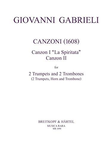 Canzoni 1 & 2 für 2 Trompeten, 2 Posaunen (Horn, Posaune) - Partitur und Stimmen (MR 1090)