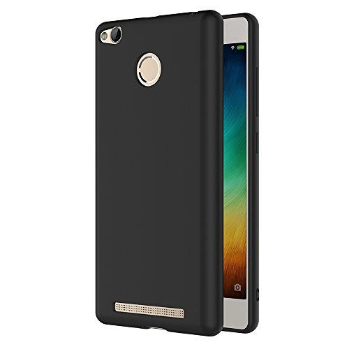 AICEK Xiaomi Redmi 3 Pro/Redmi 3S Hülle, Schwarz Silikon Schutzhülle für Xiaomi Redmi 3 Pro Case TPU Bumper Xiaomi Redmi 3S Handyhülle (5,0 Zoll)