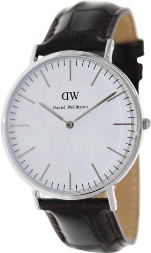 Daniel Wellington Men's York 0211DW Brown Leather Quartz Watch with White Dial