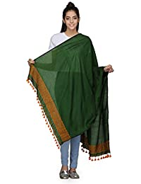 The Weave Traveller Handloom Hand Woven Solid Cotton Dupatta With Slub Work For Women's/Girl's