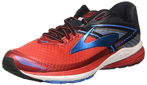 Brooks Ravenna 8, Scarpe da Corsa Uomo, Rosso (High Risk Red/Black/French Blue), 44.5 EU