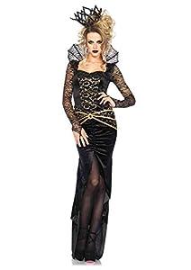 Leg Avenue- Mujer, Color negro/dorado, Medium (EUR 38-40) (8546202054)