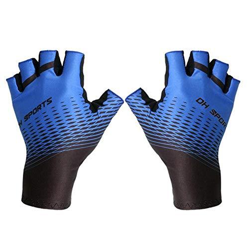 Depruies Halbfinger-Reithandschuhe Sonnencreme Atmungsaktiv schweißabsorbierende Rutschfeste Unisex-Handschuhe für Sommer-Radfahren