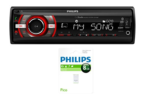 Philips CE135BT/19  Autoradio Bluetooth USB-Stick mit 8 GB schwarz