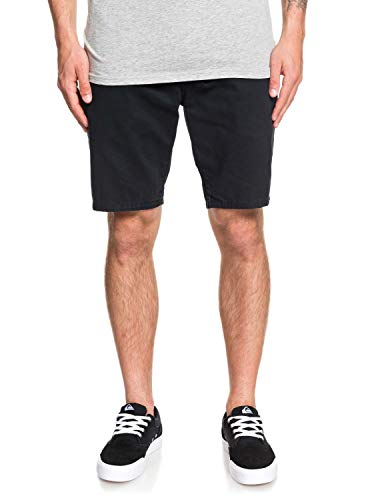 Quiksilver Herren Everyday Chino Light Short Walk, Black, 34 - Easy Fit Chino Shorts