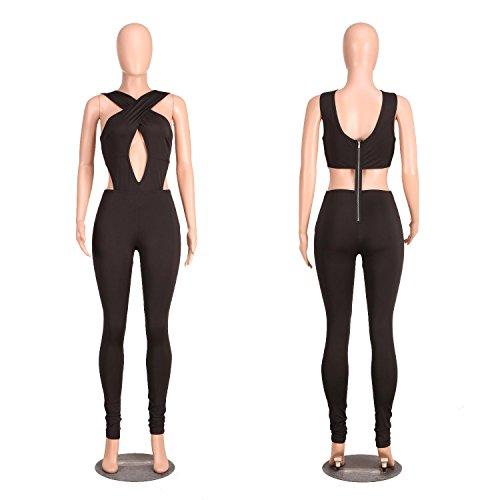 SHISHANG Femmes eveners Mode 5 couleurs sélection pantalon boîte de nuit haute élastique printemps et sangles été pièce Black