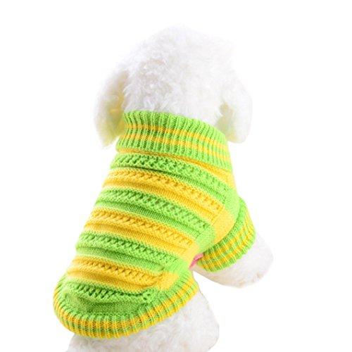 Hoodie Strick Pullover Welpen Mantel Kleider Kleine Warm Kostüm (S, Grün) (Zu Hause Kostüme)